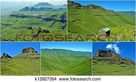 Stock Photo of Drakensberg Mountains k12827354.