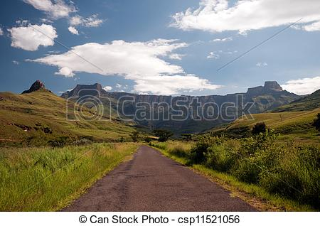 Stock Images of Drakensberg mountains in South A.