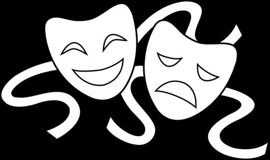 Clip Art Drama Masks.
