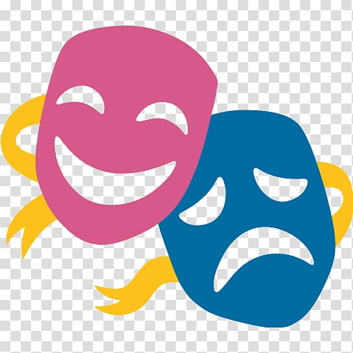 Emoji Musical theatre Mask Drama, fine arts transparent.