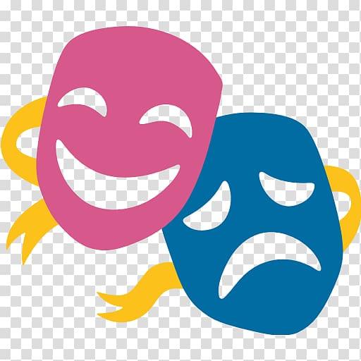 Emoji Musical theatre Mask Drama, fine arts transparent.