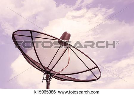 Stock Images of Satellite background,Dramatic Look k15965386.