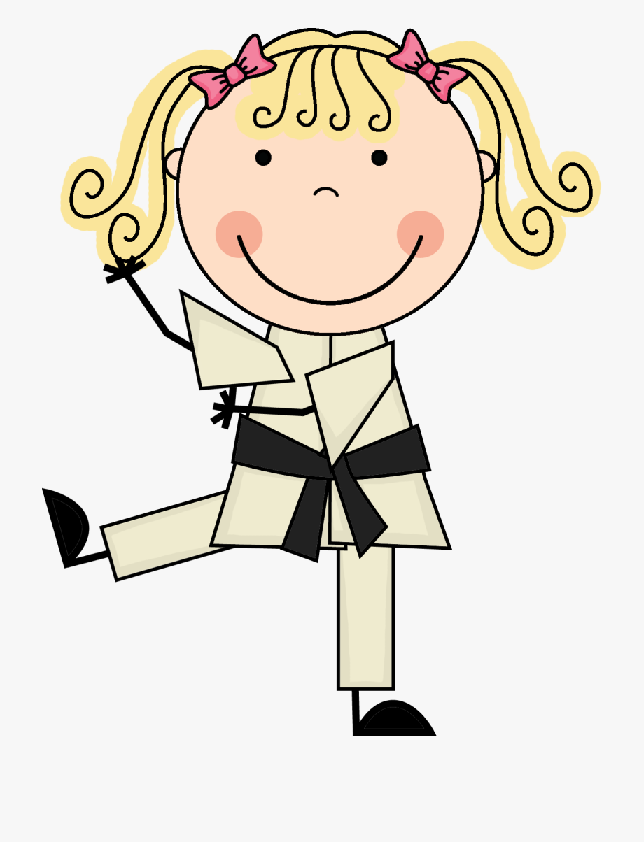 Korean Clipart Kid Martial Art.