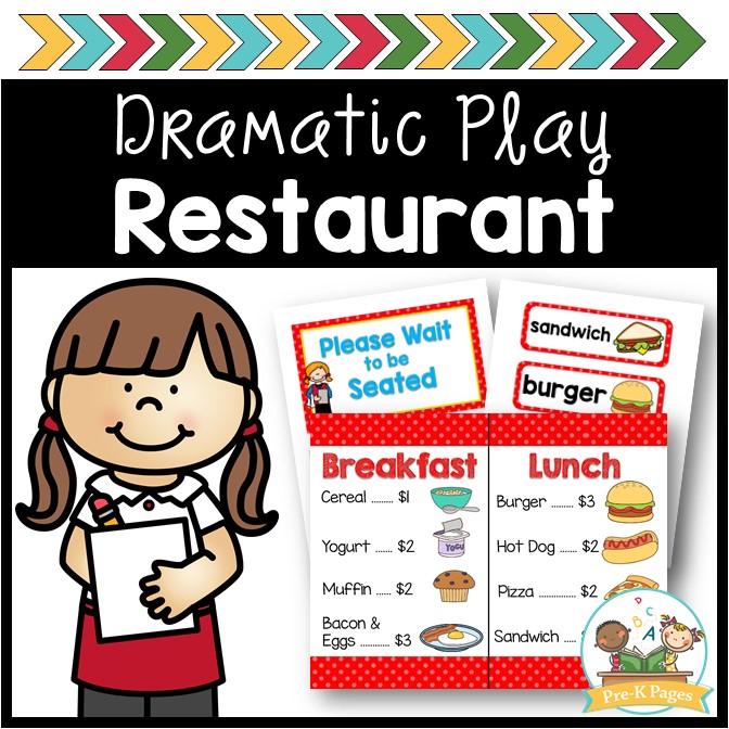 Restaurant Dramatic Play Kit.