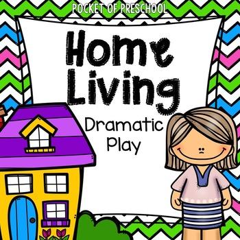 Home Living Dramatic Play Center for Preschool, Pre.