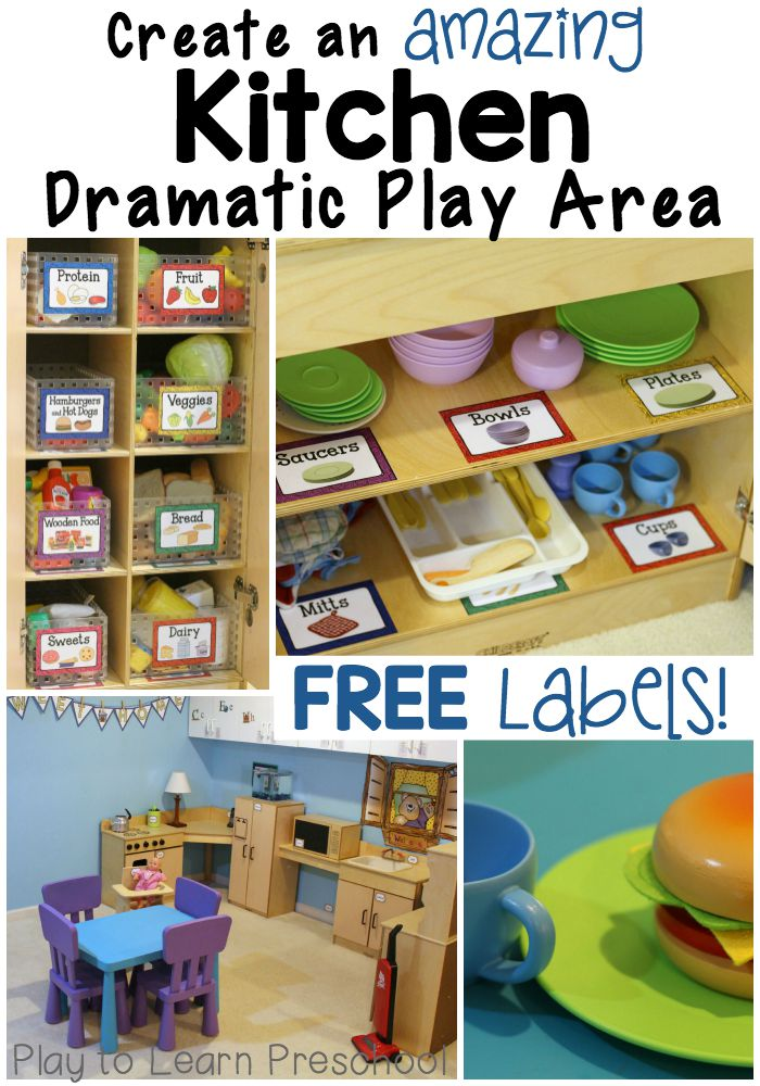 How to Create an Amazing Kitchen Dramatic Play Center.