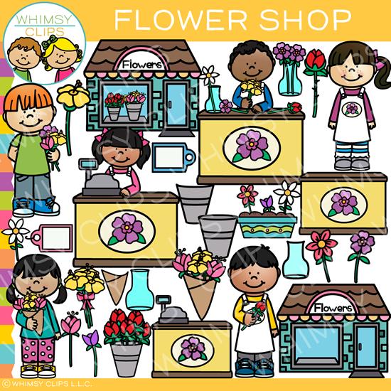 Flower Shop Clip Art.