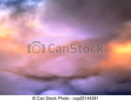 Stock Illustration of Clouds of Heaven, dramatic sky csp25144391.