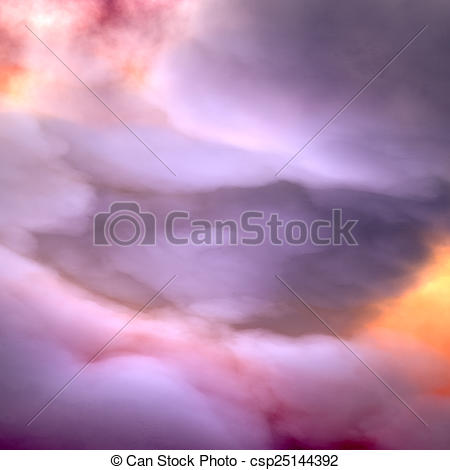 Stock Illustration of Heavy Clouds, dramatic sky csp25144392.