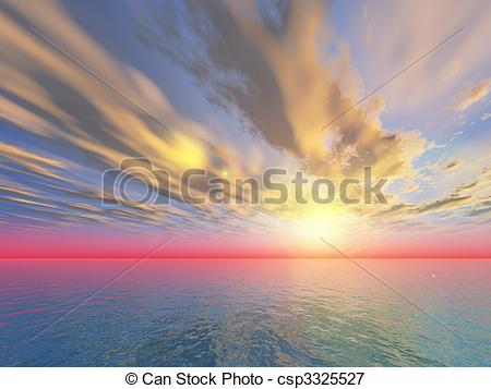 Stock Illustrations of dramatic sky csp3325527.