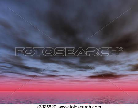 Stock Illustrations of dramatic sky k3325520.