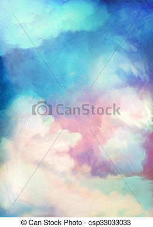 Drawings of Dramatic Sky Painting Background.