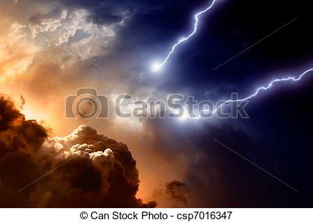 Stock Illustrations of Dramatic sky.