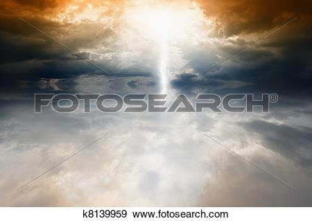 Stock Illustration of Dramatic sky and sea k8139959.