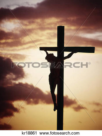 Stock Photography of crucifixion jesus christ on the cross.