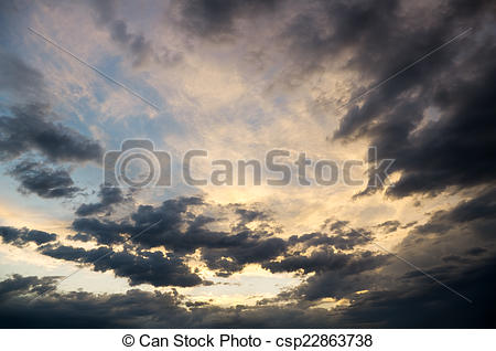 Stock Photos of Dramatic sky with stormy clouds. Nature.