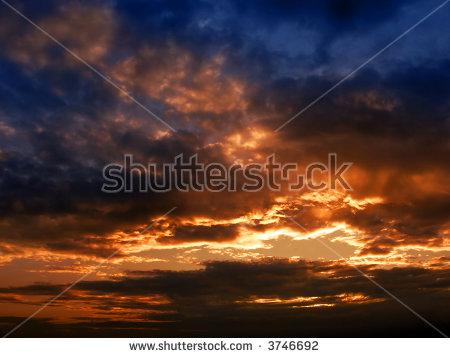 Sunset Dark Stock Images, Royalty.