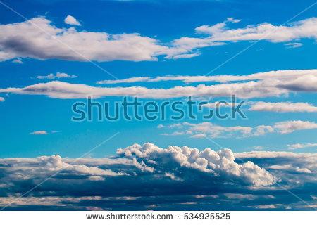 Blue Sky Clouds Dramatic Stock Photos, Royalty.