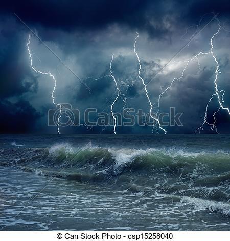 Cartoon stormy sky background clipart.