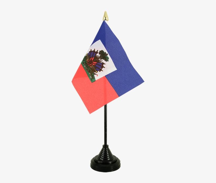 Desk And Table Flag Haiti.