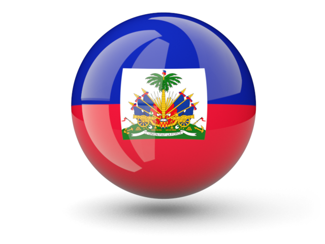 Sphere icon. Illustration of flag of Haiti.
