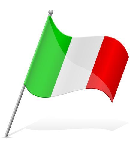 drapeau de l'illustration vectorielle Italie.