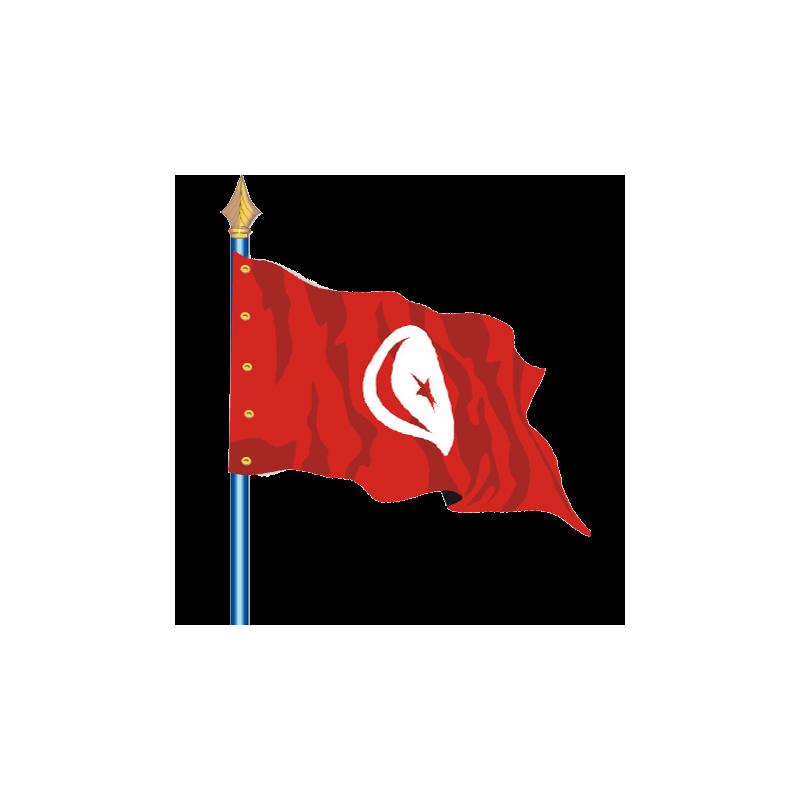 Drapeau Tunisie.
