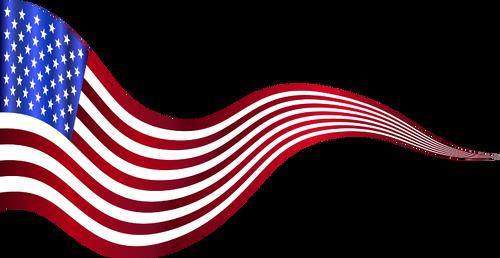 Ondée USA drapeau bannière clipart.