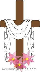 Clipart crosses draped with cloth.