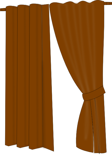 Tree clipart with drapery.