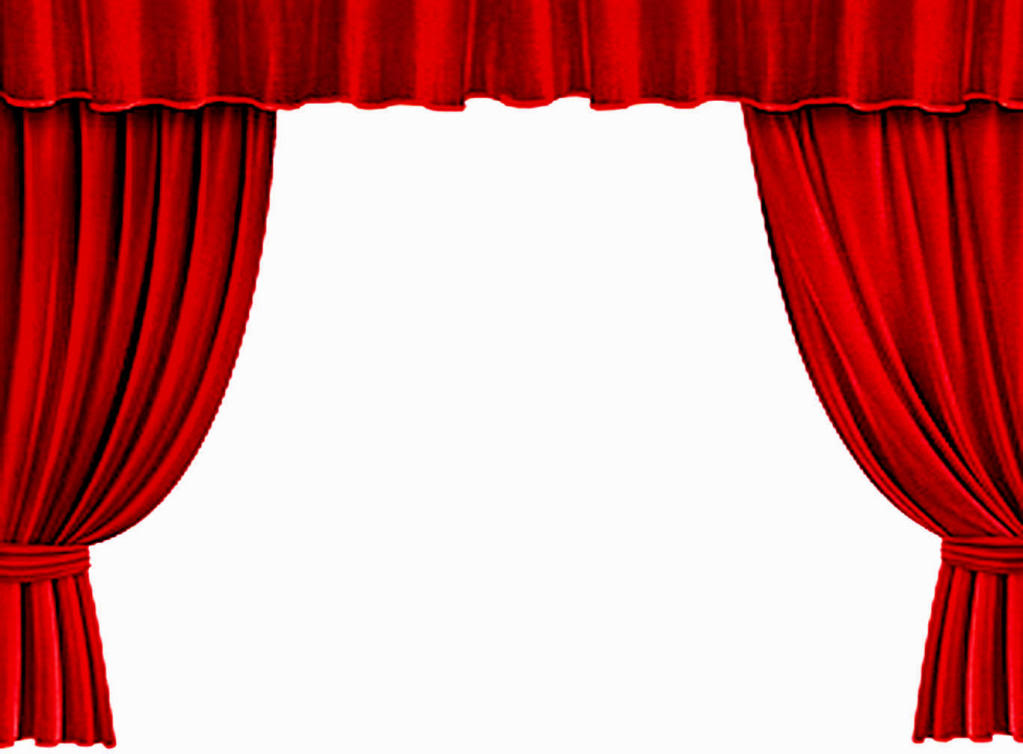 red theater curtain clipart #20