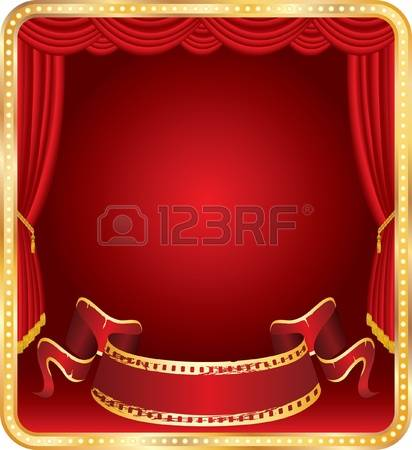 1,483 Red Gold Curtains Stock Vector Illustration And Royalty Free.