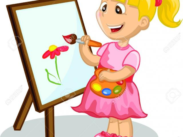 Student Drawing Clipart.