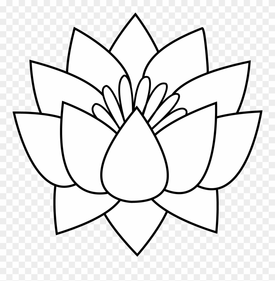 Gallery Flower Line Drawing Clip Art Free,.