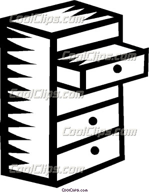 Clip Art Kitchen Drawers Clipart.