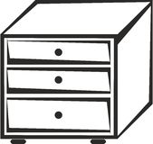 Clip Art Black and White Chest of Drawers.