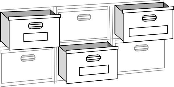 File Cabnet Drawers Clip Art at Clker.com.