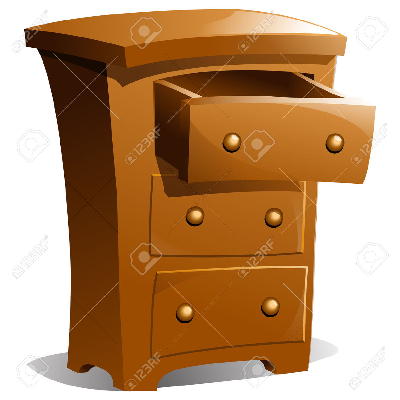 Dresser drawer clipart.