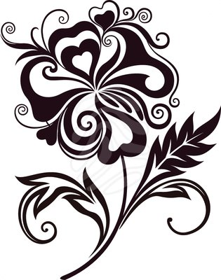 Abstract flower clipart.