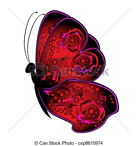 Drawing of abstract butterfly.