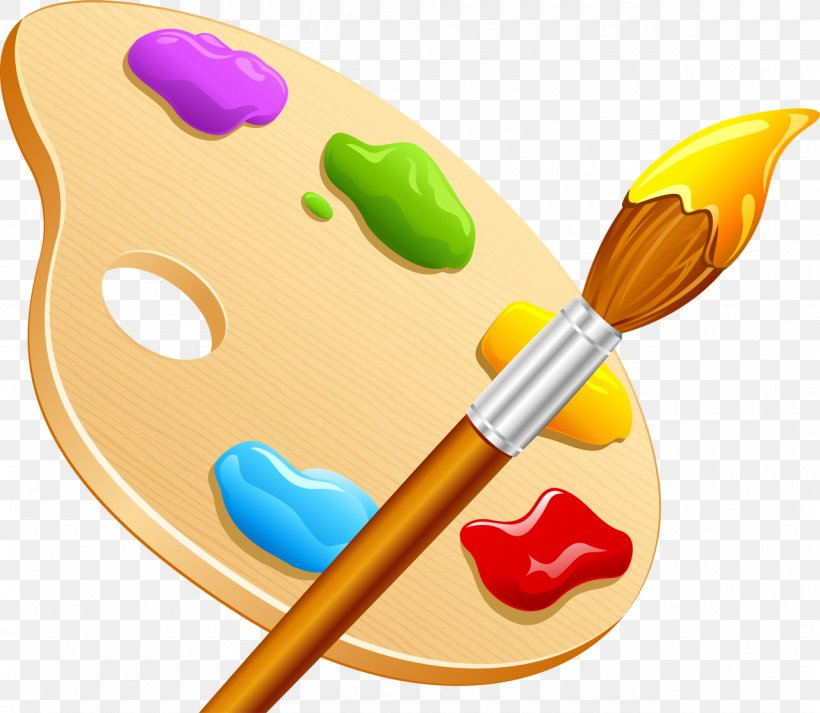 Drawing Palette Color Wheel Paint Brushes, PNG, 1280x1114px.