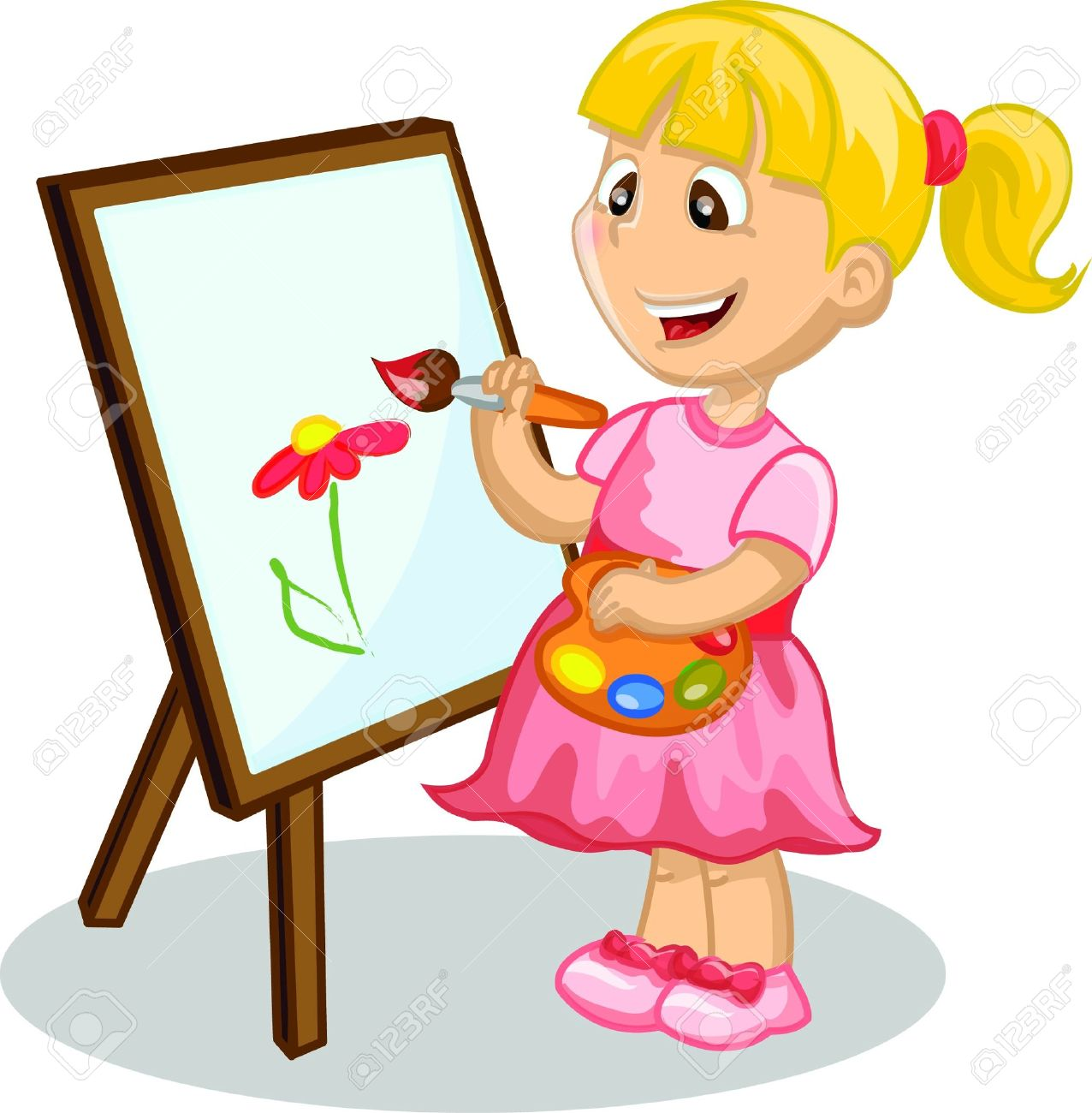 Girl clipart drawing.