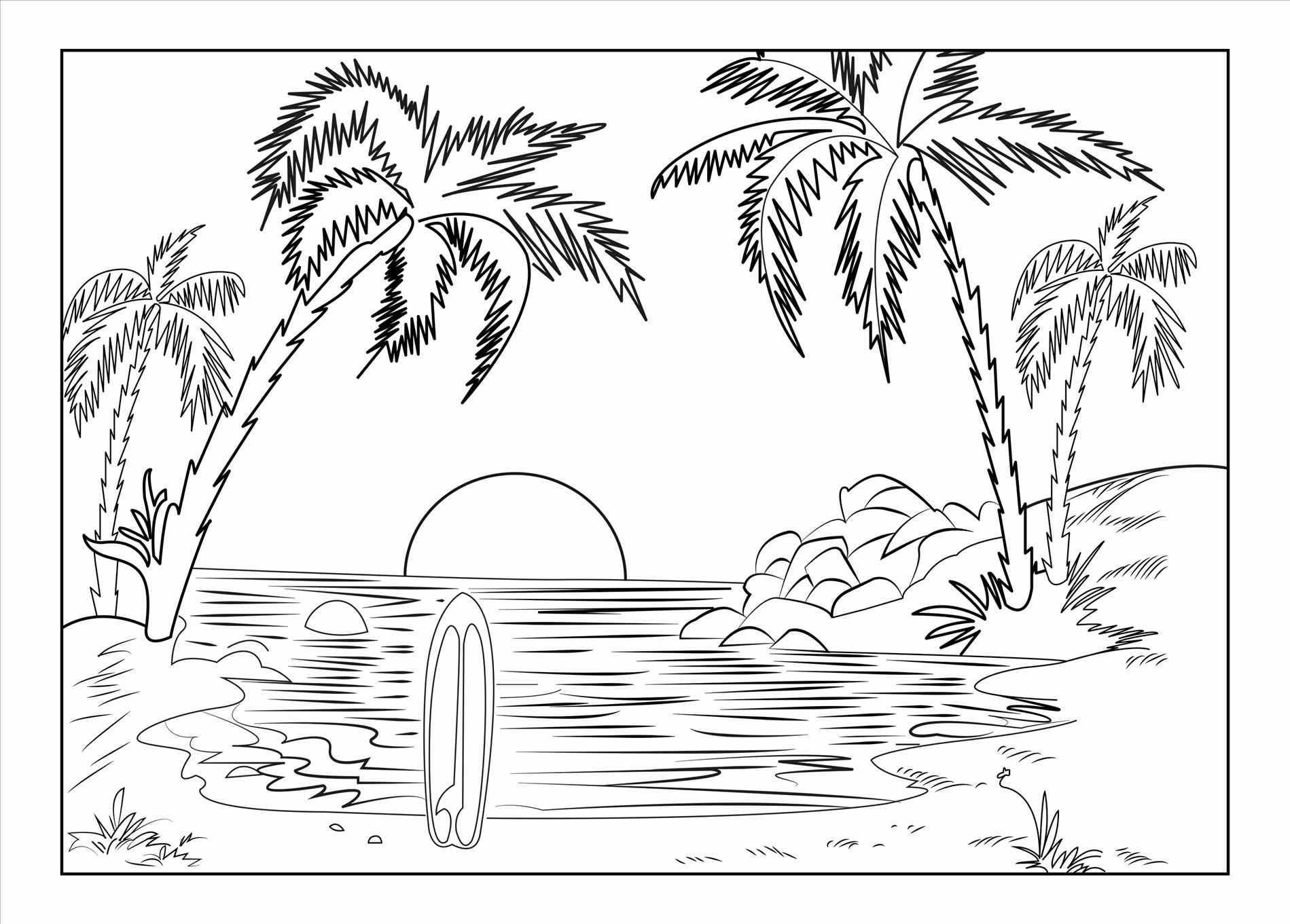 Scenery Drawing Clipart.