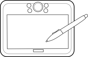 Drawing Tablet Clipart.