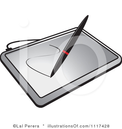 Clip Art Drawing Tablet.