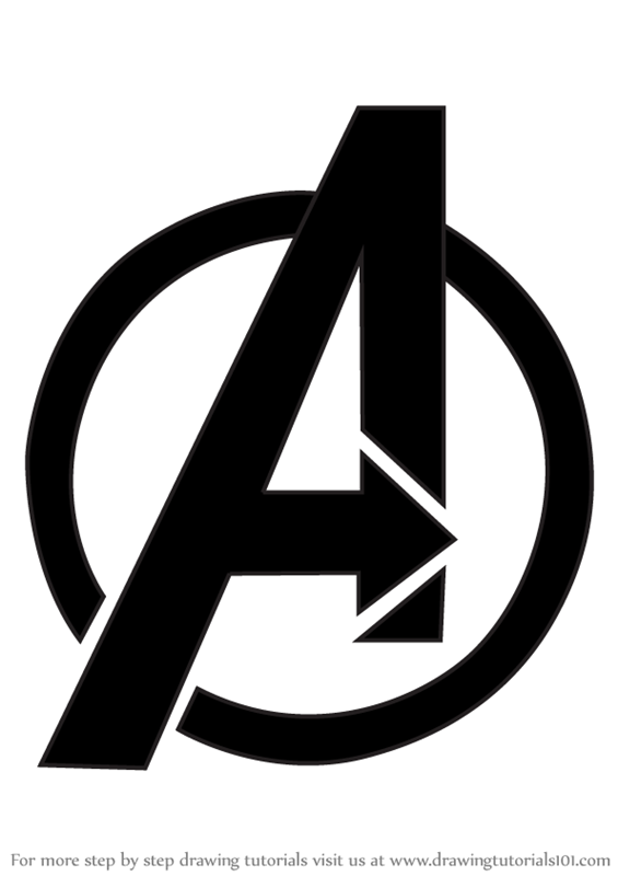 Learn How to Draw Avengers Logo (Brand Logos) Step by Step.