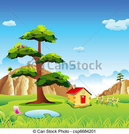 Vector Clip Art of Natural Valley.