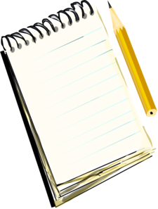 Drawing Notebook Clipart.