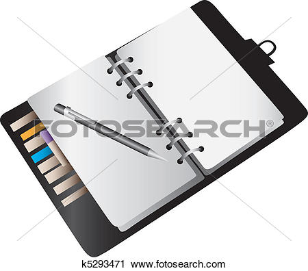 Clipart of Blank notebook planner k5293471.