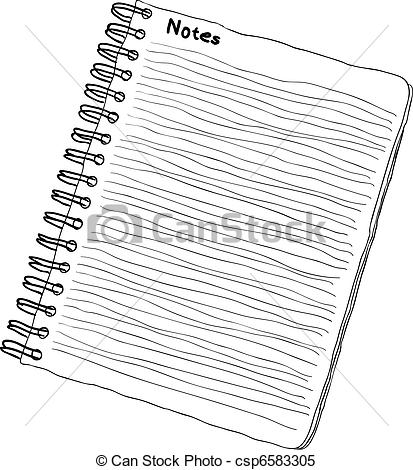 Clipart Vector of notebook.